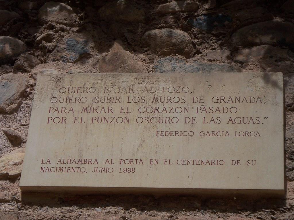 Versos De García Lorca En La Alhambra Poeta Y Dramaturgo