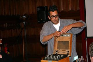 Simon Singh & his Enigma machine