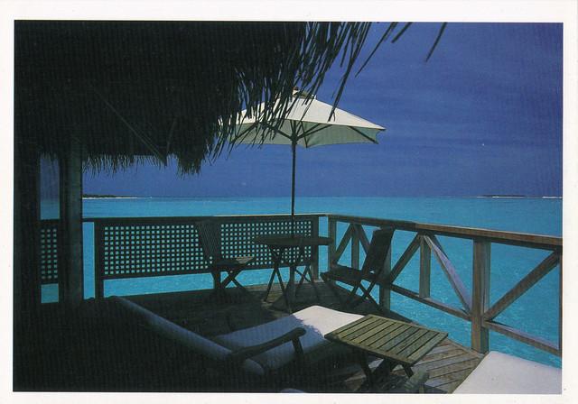 Maldives: Rangali Beach Porch Postcard