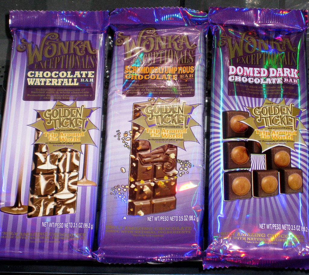 Nestle Wonka Exceptionals Candy Bars Chocolate Waterfa