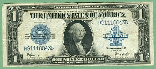 Series 1923 U.S. 1$ Silver Certificate, Friedberg #237, S/N R91110043B   by LostBob Photos