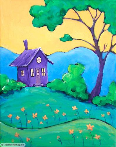 tinyhouse originalartpainting acryliclandscapepainting originalpaintingsforsale
