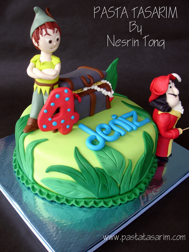 Magnificent Peter Pan Birthday Cake Denizs Cake By Nesrin Tong Flickr Personalised Birthday Cards Paralily Jamesorg