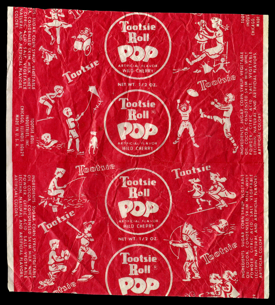 Tootsie Roll Pop Wild Cherry Indian Candy Wrapper Flickr