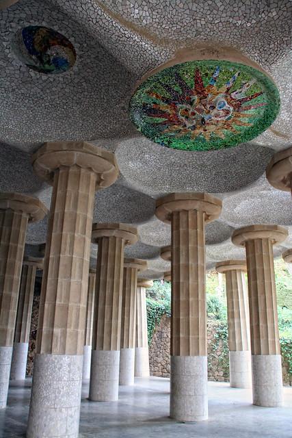 Parque Güell-Sala Hipóstila