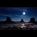 Vote for this picture: Moonlight reflexion on the snow in Monument Valley - The Mittens - Arizona by Dominique Palombieri