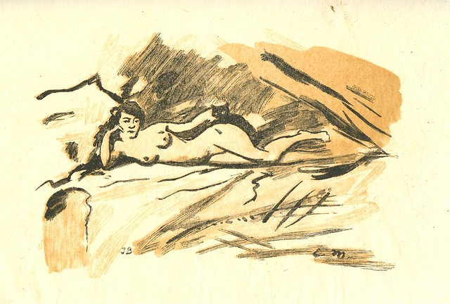 Alfred Prunaire after  Edouard Manet - Olympia, woodcut