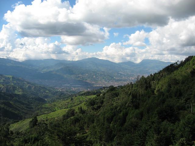 Vista del sur del Valle de Aburrá, Antioquia