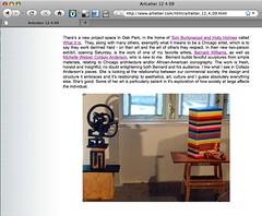 artletter screengrab | by burtonwood + holmes