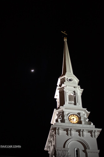 Crescent Moon | North Church by Philip Case Cohen
