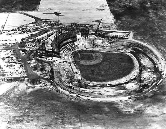 Metropolitan Stadium Construction  Bloomington Minnesota