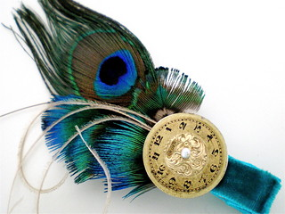 Time of Elegance Feather Fascinator