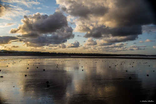 sea sky beach water wales clouds sunrise reflections outdoors sand d3100