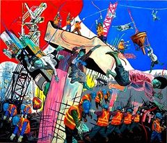 Santos, Pablo Baen, Labor Monkey, 2010, oil on canvas, 72x84