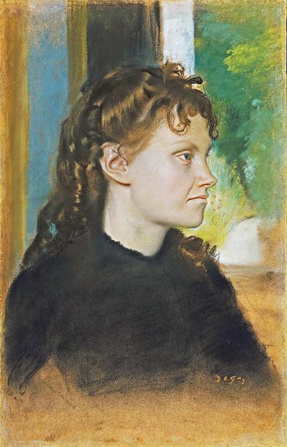 Edgar Degas - Mme Theodore Gobillard née Yves Morisot [1869] pastel