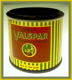 Super Valspar Sample Tin Bank