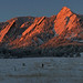 Alpenglow on the Flatirons - City of Boulder Open Space and Mountain Parks