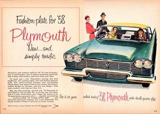 1958 Plymouth Belvedere 4-Door Hardtop Ad (Canada)