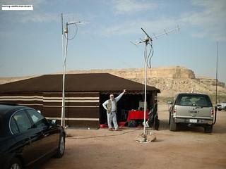 working satellite from desert