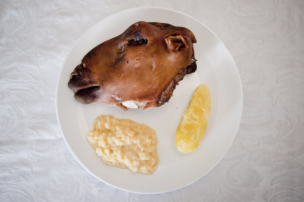 Yesterdays dinner | Smalahove  Lamb head  The best part was … | Flickr