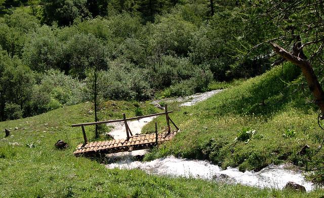 La passerelle - Mercantour (Alpes-Maritimes)