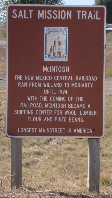Salt Mission Trail Marker (McIntosh, New Mexico)