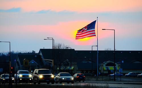 sunset sky beautiful america unitedstates flag