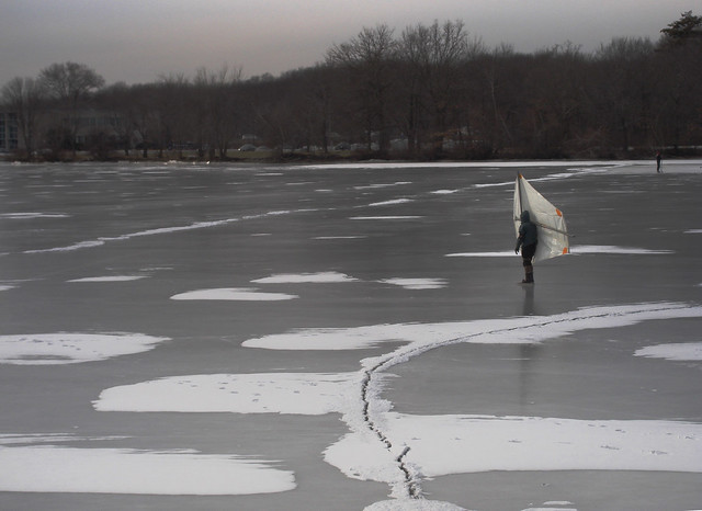 frozen Lake Quannapowitt, Wakefield, Massachusetts (2010)
