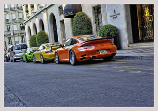 HDR red Ruf RT 12S Rouge, yellow Porsche 996 GT2 and green Ruf RT 12S | by _PEC_