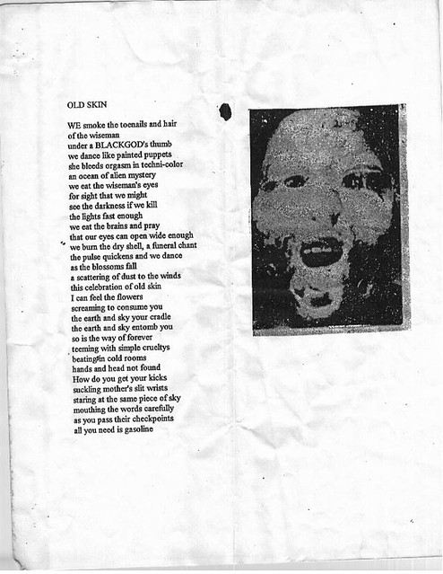 Old Skin, a poem by Dax Riggs | From the book of poems Shitt