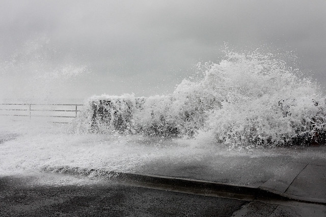 Caution: Waves May Break Over Seawall
