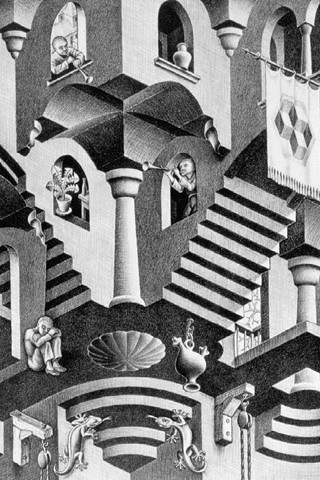 M C Escher Iphone Wallpaper Click Here For More Abstract