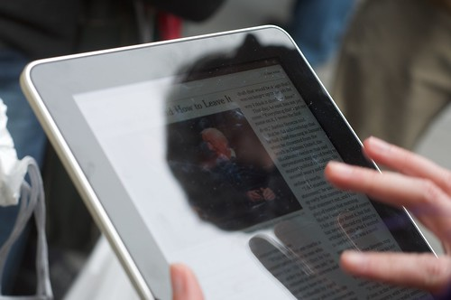New York Times app on iPad at launch at San Francisco Apple Store 141 | by Steve Rhodes