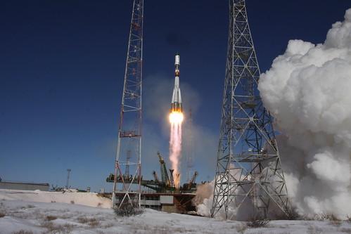 Ракета-носитель «Союз-У» с грузовым кораблем «Прогресс МС-05» // Soyuz-U launch vehicle together with the cargo transport spacecraft Progress MS-05 | by Official Roscosmos Photos