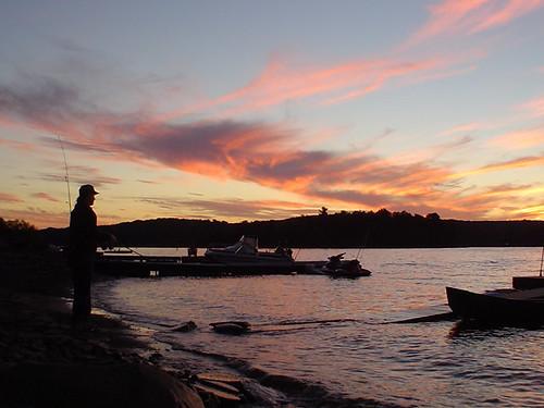 sunset lake water silhouette night fishing jessica jess p petro jessp wallenpaupac jesspetro petrohoy