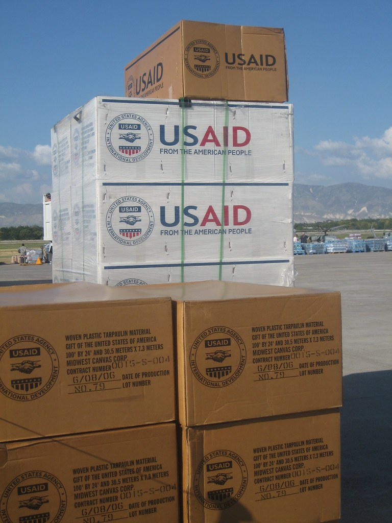 USAID Relief supplies arrive in Port au Prince