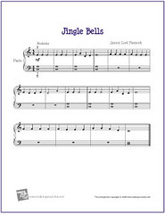 picture about Carol of the Bells Free Printable Sheet Music named Jingle Bells Totally free Starter Piano Sheet New music (PDF) Flickr