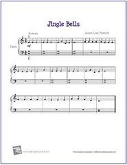 image regarding Carol of the Bells Free Printable Sheet Music identify Jingle Bells Cost-free Novice Piano Sheet Tunes (PDF) Flickr