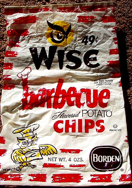 1970s Wise barbecue chips bag   Craigslist doesnt often pay