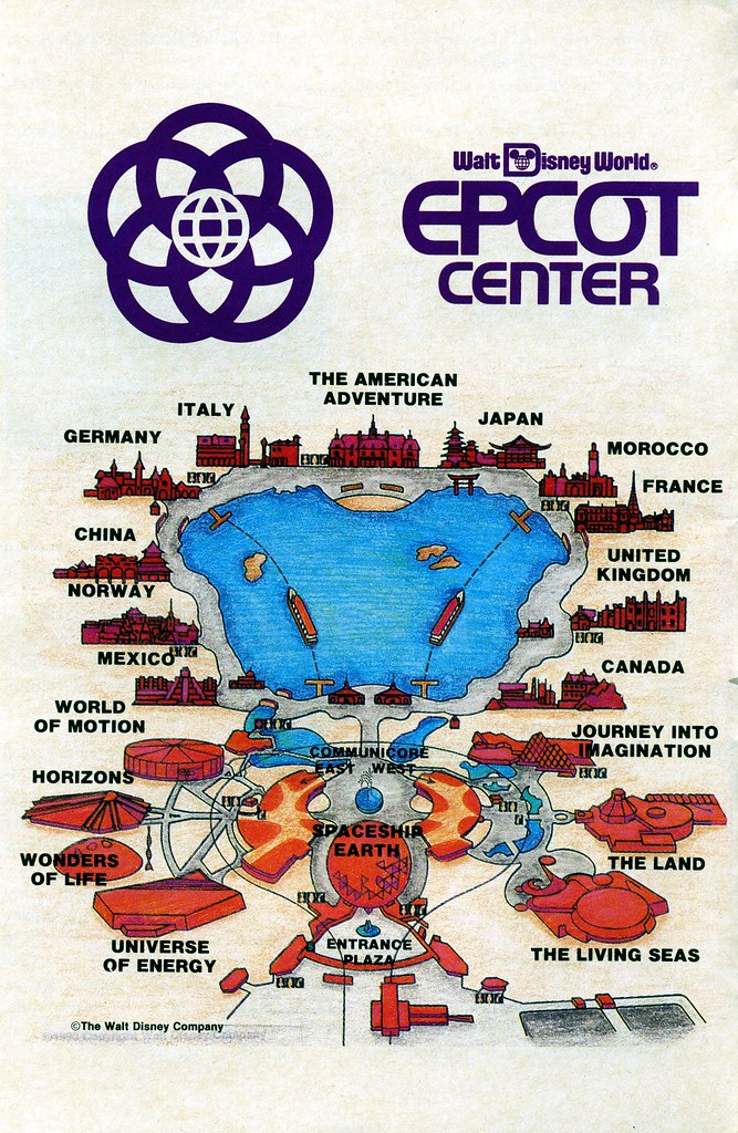 1995 - EPCOT MAP | 1995 park map. | LFMECAMP | Flickr