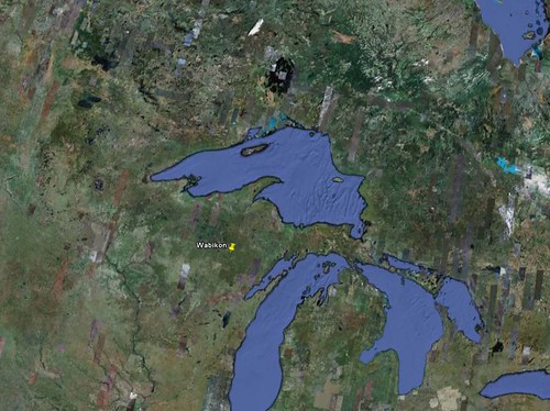 Thu, 11/12/2009 - 01:55 - The Wabikon Forest Dynamics Plot (Latitude 45.5546, Longitude -88.7945) is located in the Chequamegon-Nicolet National Forest of northeastern Wisconsin, approximately 6 km east of the town of Crandon. The site is part of a 447 ha State Natural Area designated by the Wisconsin Department of Natural Resources and U.S. Forest Service in 2007.   Credit: Google Earth