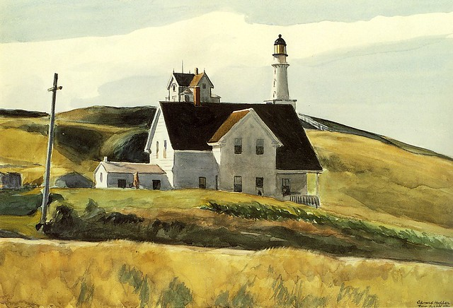 """Hill and House"" Watercolor by Edward Hopper 1927"