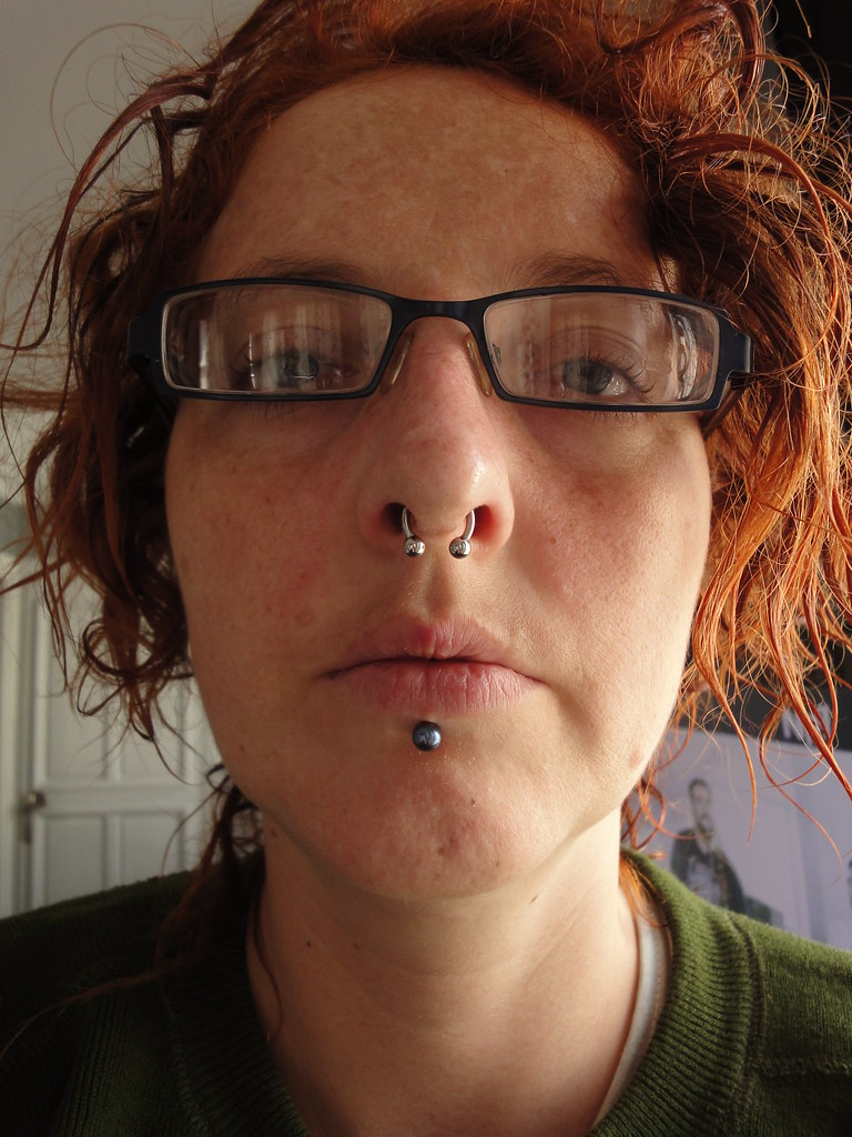 My New Septum Piercing Two Done By Vogue In Darwin Flickr