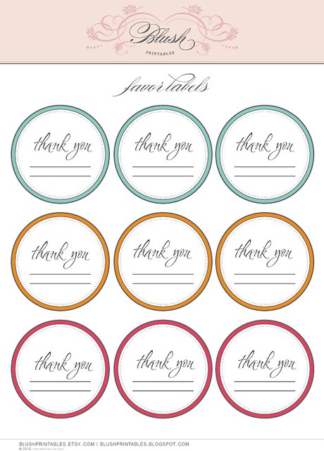 It is a photo of Printable Thank You Labels intended for personalized
