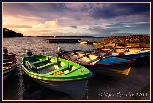 sunset sky boats pier sigma1020 loughcorrib canon60d collinamuckpiergalway