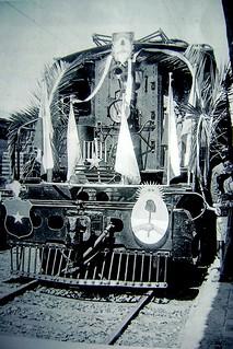arriba Peron a Santiago en este tren en 1953, Locomotora Eléctrica Baldwin- Westinghouse, Tipo o Clase 28, del año 1923, categoría Boxcab Electric
