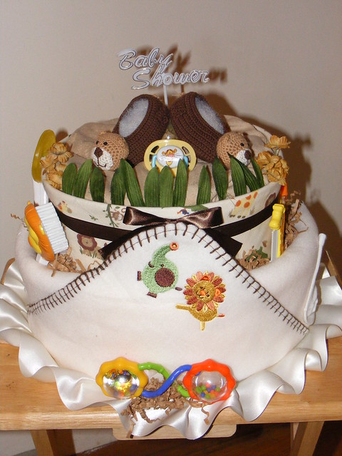 Lions, Tigers & Bears Diaper Cake