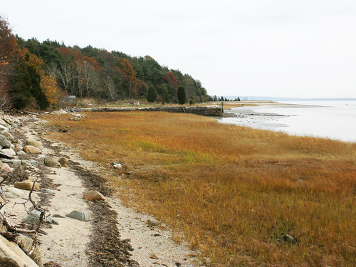 along the shore to Smith's wharf and the Myles Standish house site