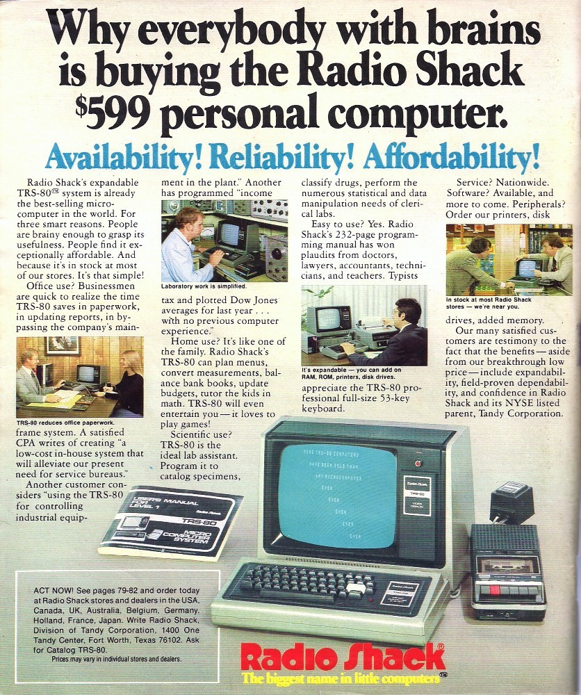 Radio Shack 1979 Catalog Back Cover | Back cover of the 1979