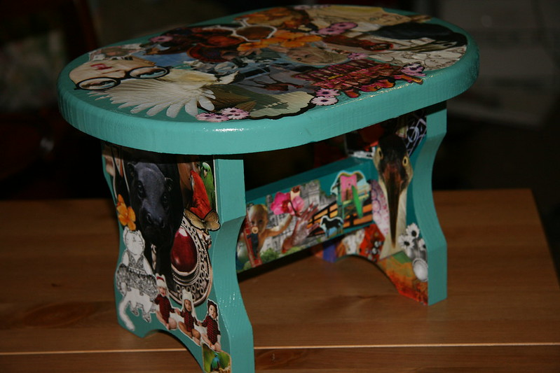 This stool took me hours and hours but I'm so pleased with the result :-)